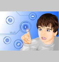 modern technology kid vector image