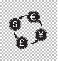 Money exchange transparent money convert sign vector