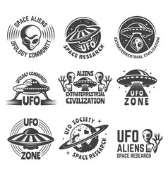 Monochrome labels or badges with pictures vector