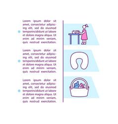 Nursing areas concept icon with text vector