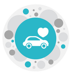 Of love symbol on automobile vector
