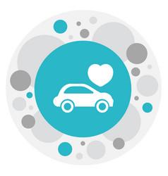 Of love symbol on automobile vector
