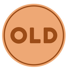 old caption bronze coin vector image vector image