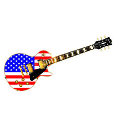 old glory guitar vector image