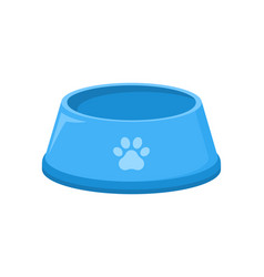 pet food bowl for dog cat icon pet plate vector image