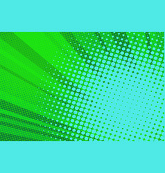 pop art green background light vector image