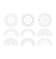 Protractor 360 degree measurement shapes vector