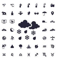 Rain and snow icon vector