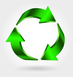recycle symbol sign green icon vector image