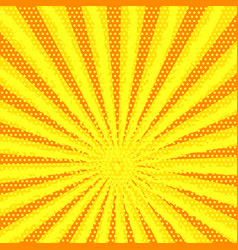 retro comic yellow background with strips and vector image