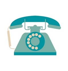 retro rotary telephone icon vector image