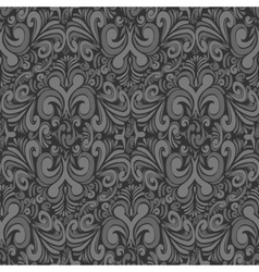 Seamless vintage dark gray background vector image