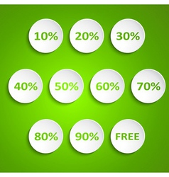 Set of simple round wheels with discounts vector image