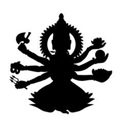 shiva silhouette traditional religion spirituality vector image