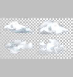 sky or heaven clouds isolated on transparent vector image