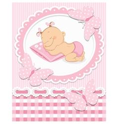 Sleeping bagirl vector