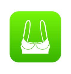 sports bra icon green vector image