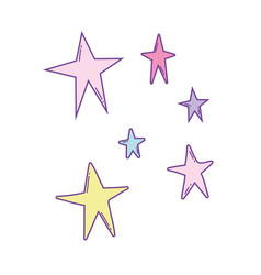 stars colorful cartoons vector image