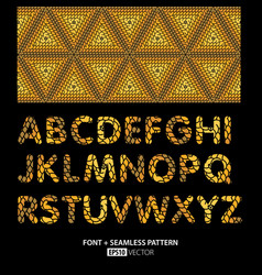 stylish font poster vector image