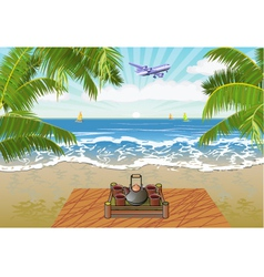 Summer vacation and travel design vector image