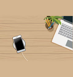 tech device charge sharing battery mobile phones vector image