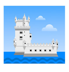 the belem tower travel to portugal vector image