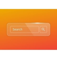 transparent glossy search button vector image