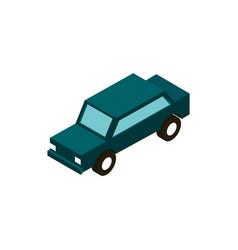 transport car vehicle isometric icon vector image
