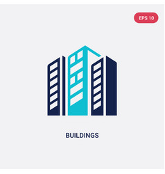 two color buildings icon from digital economy vector image