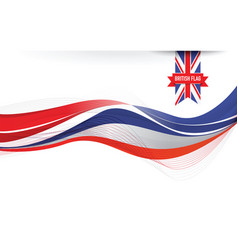united kingdom flag background vector image