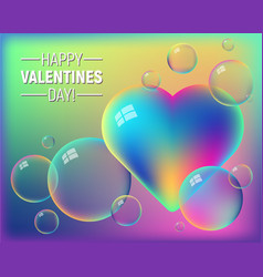 valentines day colorful abstract background vector image