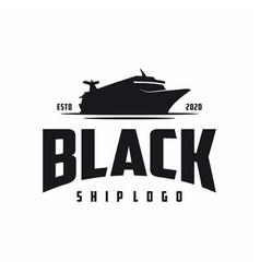 vintage retro cruise ship logo design vector image