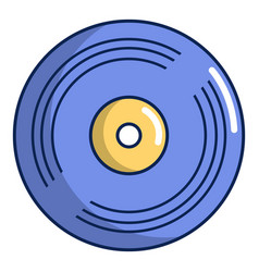vinyl record icon cartoon style vector image