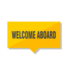 Welcome aboard price tag vector