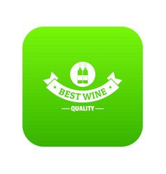 wine bar icon green vector image