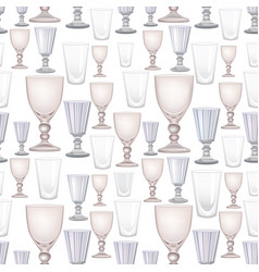 wine glass seamless pattern drink background vector image