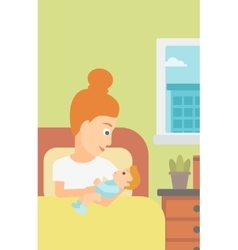 Woman in maternity ward vector