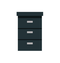Wooden drawer forniture isolated icon vector