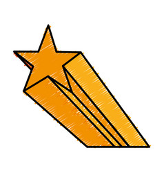 Yellow star icon vector