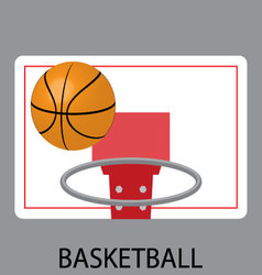 Basketball sport icon vector image vector image