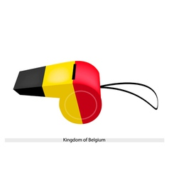 Black yellow and red stripe on belgium whistle vector