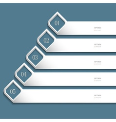 Creative white Design template vector image