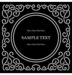 Dotted frame on black vector image vector image