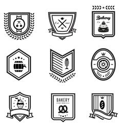 Food emblems vector image vector image