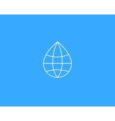 Abstract water drop globe logo design template vector image