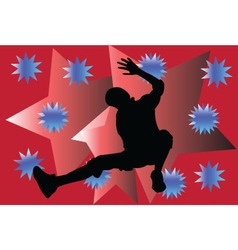 Breakdance with background - vector