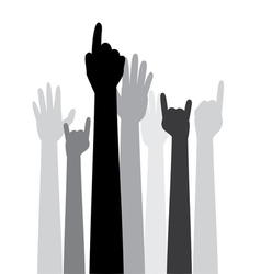 Cartoon Hands with Gestures3 vector image vector image