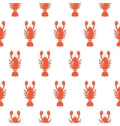 Lobster seamless pattern vector