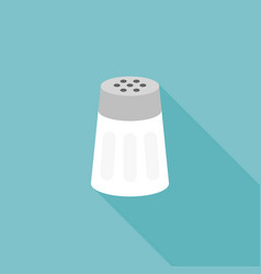 salt shaker icon flat design with long shadow vector image vector image