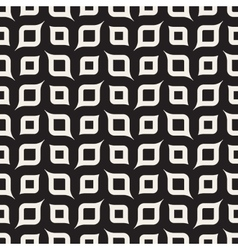 Seamless Black And White Rounded Shapes vector image vector image